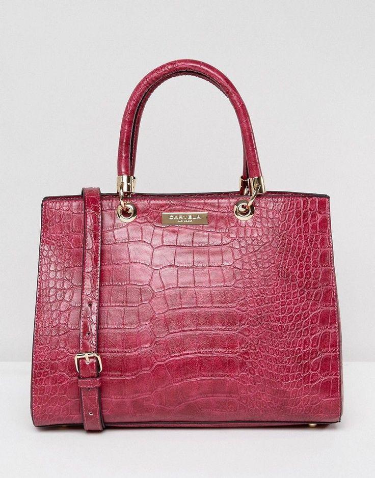 Carvela Darla Mock Croc Structured Tote Bag - Pink