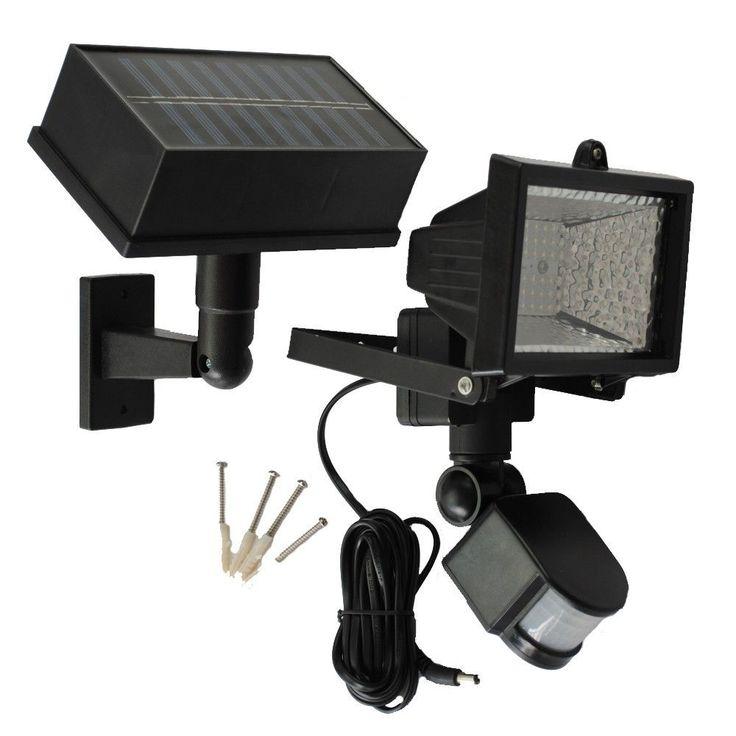 Solar Goes Green SGG-PIR54 LED Solar PIR Motion Sensor Security Flood Light