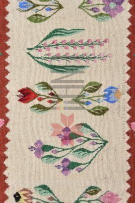 Covor romanesc Lucrat manual - lana traditional 82x53 - Motivul Miracol