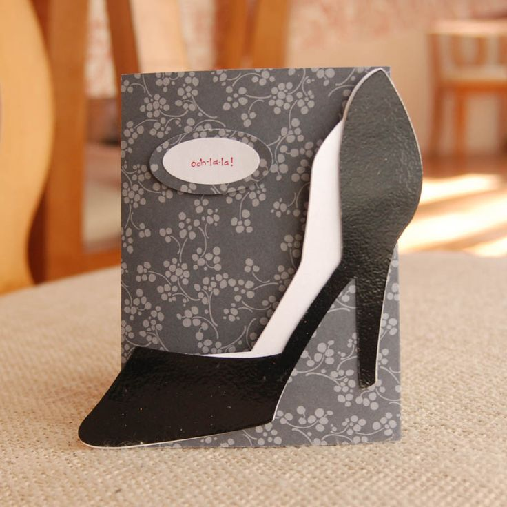 Shoe Card. Template is included on the site.