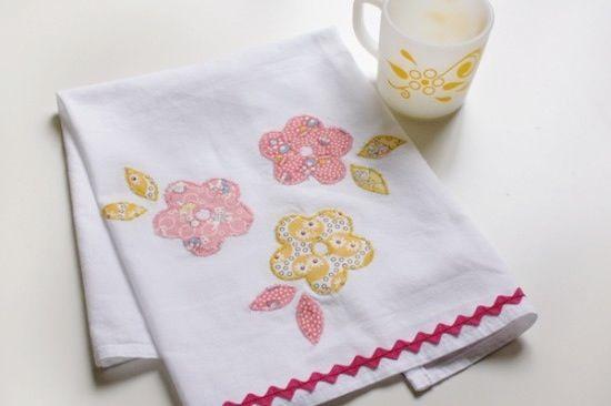 Applique Tea Towels | Paper & Stitch