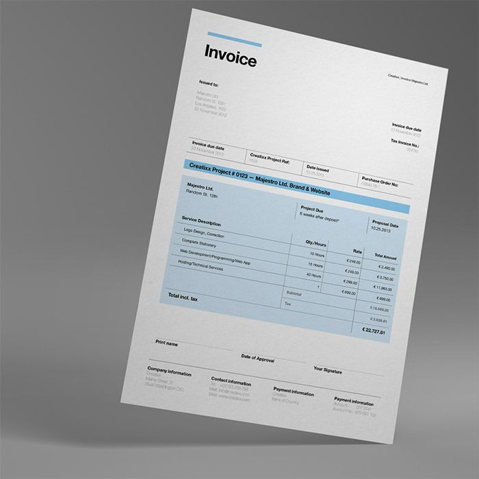 50 Creative Invoice Designs for Your Inspiration