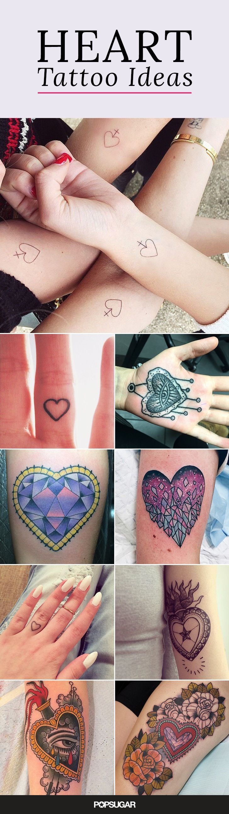 We're loving the ladies and gentlemen who have taken the leap, made the commitment, and gotten marked with some permanent heart-shaped ink, big and small. If hearts aren't usually your thing, trust us — there are. , colorful, and classic renditions of the heart, there's some great inspiration for that, too! Check out these stunning tattoos!