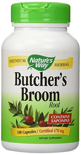 Nature's Way Butcher's Broom Root Capsules, 100-Count