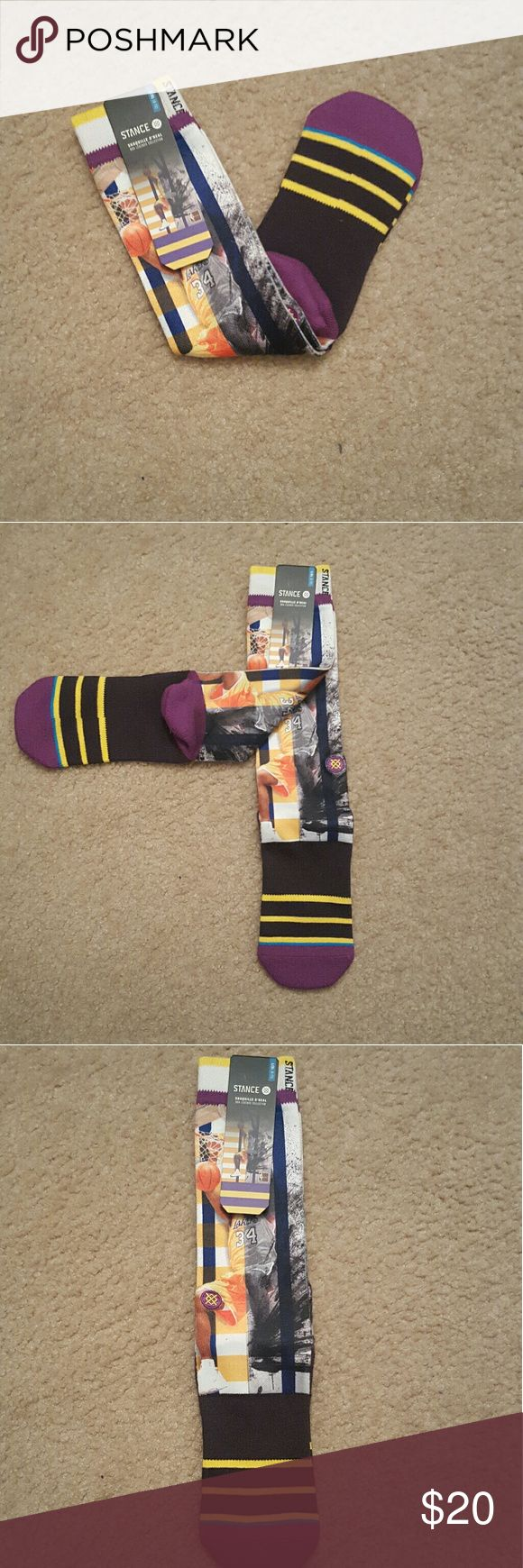 Stance LA Lakers Shaquille O'Neal socks - L/XL NWT Stance LA Lakers Shaquille O'Neal socks size L/XL. Part of Stance's NBA Legends Collection.  #stancesocks #socks #nba #shaq #lakers #lalakers Stance Underwear & Socks Athletic Socks