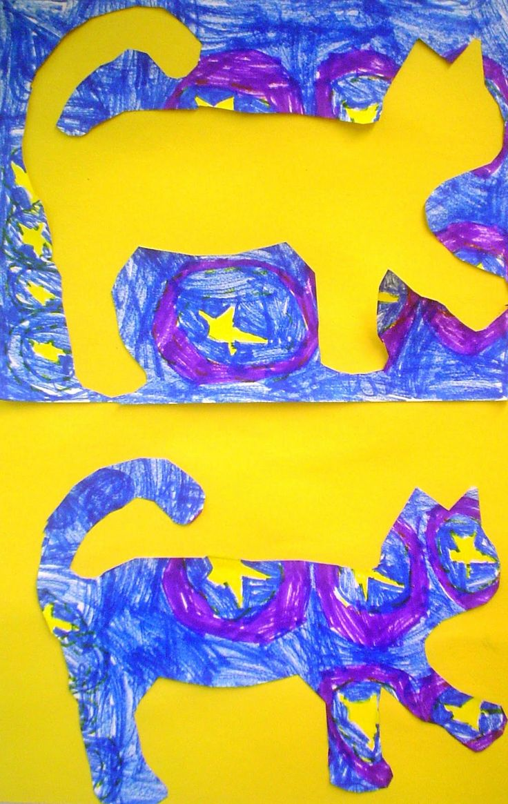 Van Gogh's Cat, Lessons from the K-12 Art Room POSITIVE NEGATIVE SPACE LESSON