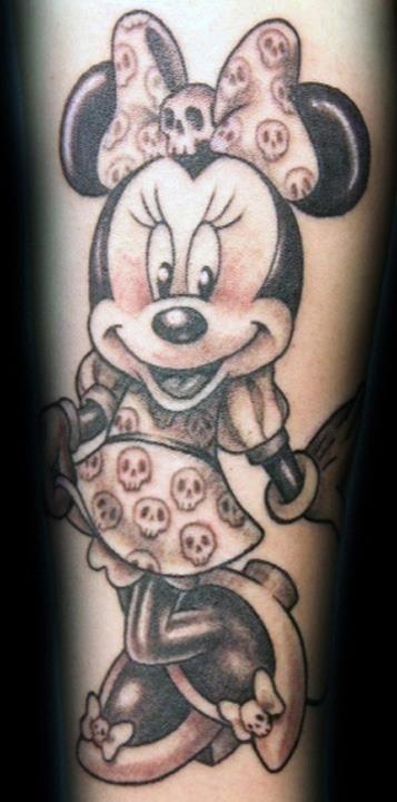 minnie mouse tattoos | ... De Minnie Con Vestido Calaveras Tatuajes Fotos Y Tattoos on Pinterest