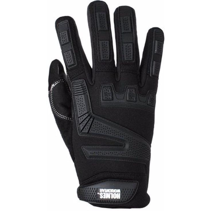 Holmes Workwear Ultimate Protection Mechanics Glove, Black