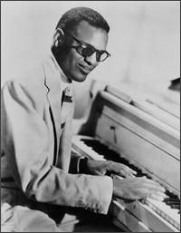 Ray Charles~the influences upon his music were mainly jazz, blues, rhythm and blues and country artists of the day such as Art Tatum, Nat King Cole, Louis Jordan, Charles Brown, Louis Armstrong. His playing reflected influences from country blues, barrelhouse and stride piano styles.
