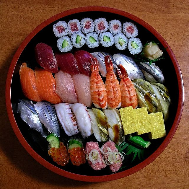 This sushi platter is making me soooo hungry!