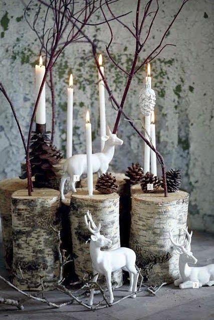 Lovely holiday decoration centerpiece.