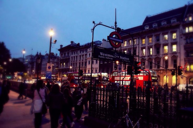 Westminster underground station in London. 10/2014.