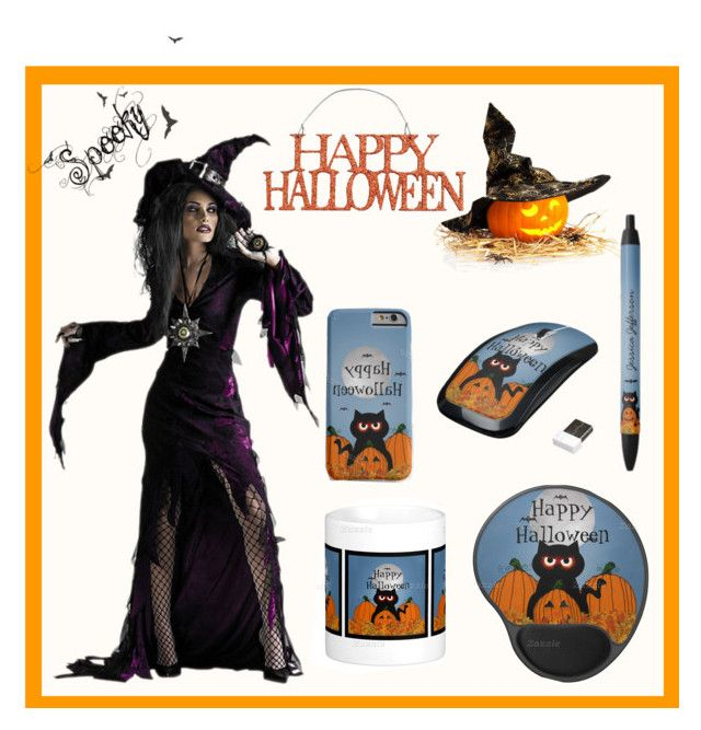 Spooky Kitty Halloween Office Decor And More by kelly-cavender on Polyvore featuring interior, interiors, interior design, home, home decor, interior decorating and Disguise