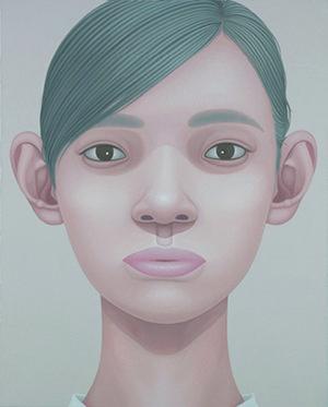 """""""Portrait - white shirt"""" 2011, oil on canvas, 100 x 80.3 cm"""