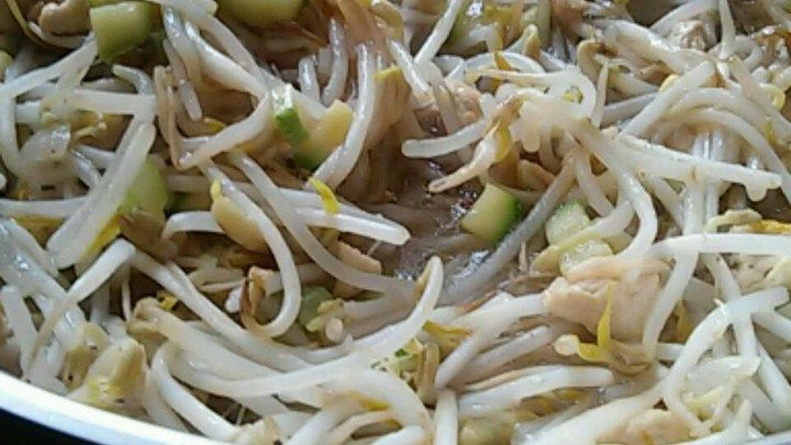 This is the fast and easy chop suey recipe that my mother always made, and we love it 'as is',  but you could substitute a can of Chinese mixed vegetables for the bean sprouts if you like more color and texture. Serve over hot rice, topped with chow mein noodles and soy sauce, if desired.