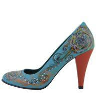 Pantofi pictati Mexico Scent din piele naturala