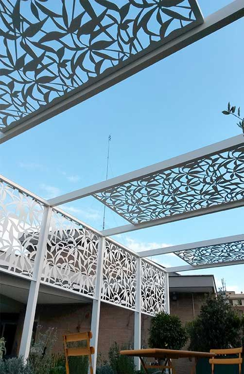 7 best sun screenings solar shades images on pinterest for Metal sun shade structures