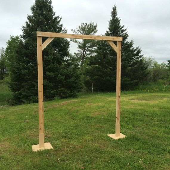 5 Piece Cedar Wedding Arch With Two Square Stands