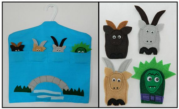 The Three Billy Goats Gruff  Hanging Finger by Tangibles4Teaching, $20.00