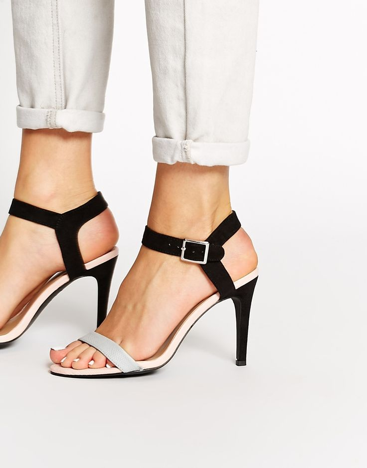 Image 1 - New Look - Sandales habillées color block à talons et brides
