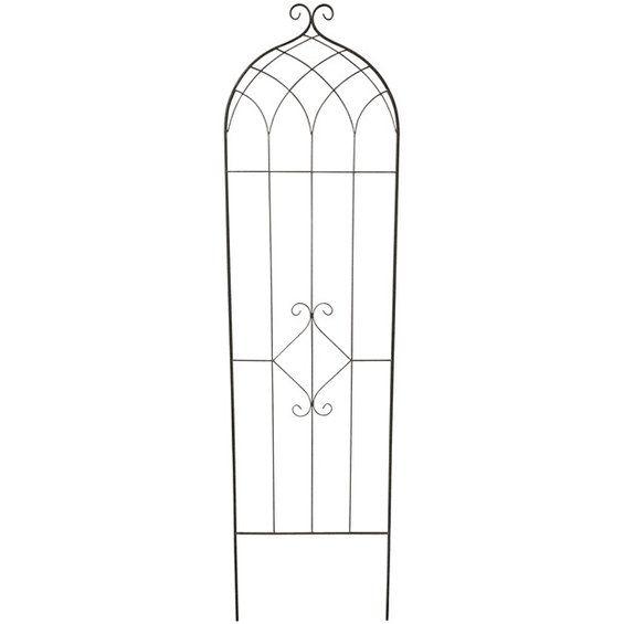 """Porszórt acélból • Kúszónövényekhez kiválóan alkalmas ✓ Futtatórács, """"B"""" dekoráció, 180 cm, sötétszürke ➜ Virágfuttató rácsok OBI online shop vásárlás"""