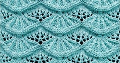Written instructions and video tutorials how to knit the Alsacian Scallops lace stitch. I really love this stitch. I hope you will love it also!