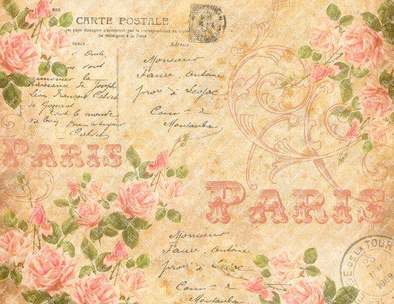 Free Decoupage Vintage Printables   Rosas - Collage para Decoupage, Artesanías, Bricolaje - Para imprimir ...