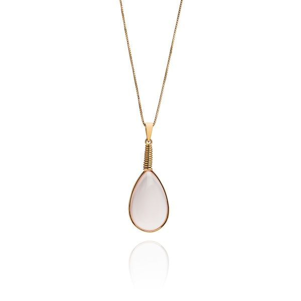 Pink Tear Drop Pendant | Sienna Bella | Wolf & Badger