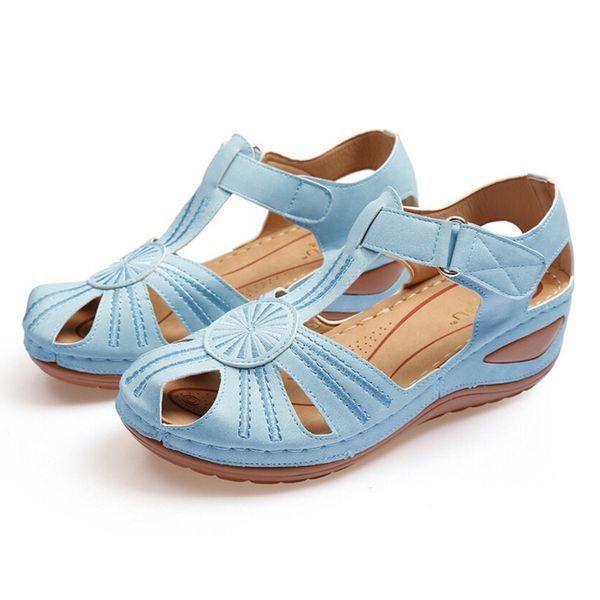 Women's Buckle Flats Flat Heel Sandals (1625433334)