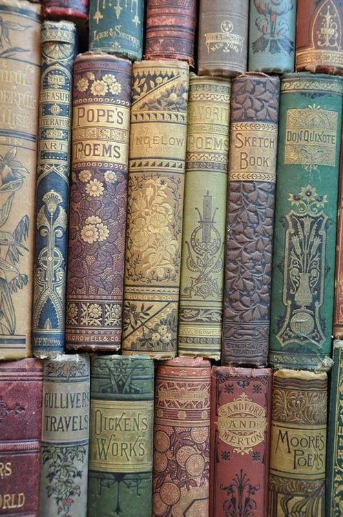 Colourful antique books