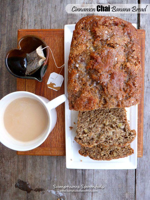 Cinnamon Chai Banana Bread ~ A tea-lover's #banana bread #recipe from Sumptuous Spoonfuls