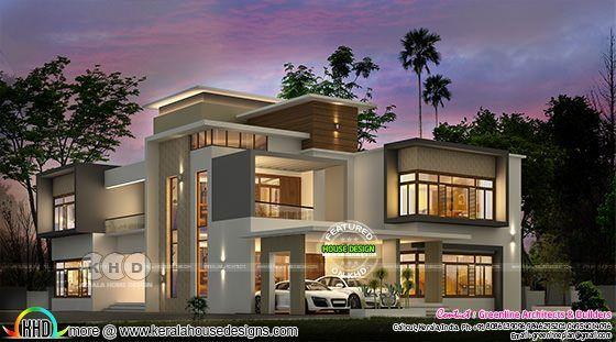 luxury ultra modern home 6000 sq ft kerala home design house rh pinterest com