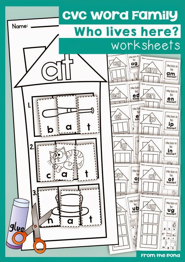 41 best Kinder Word Family images on Pinterest | Word family ...