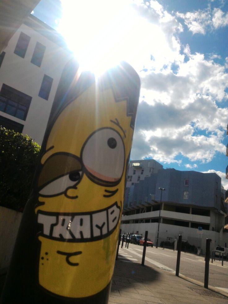 Tramb Simpson ! Street Art by Tramb