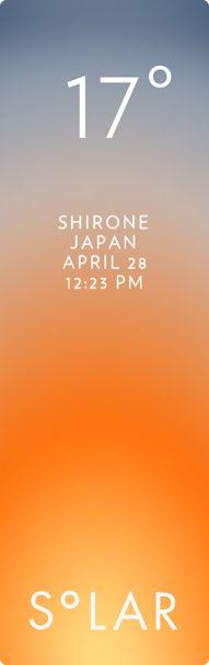 新潟市 西区 weather has never been cooler. Solar for iOS.