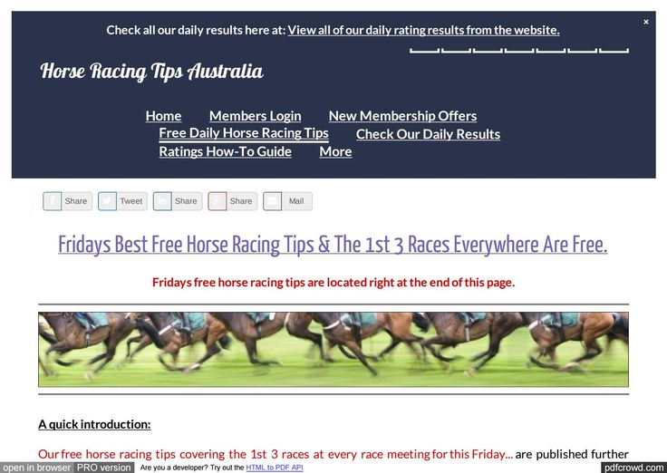 Fridays January 27th Free Horse Racing Tips For Today