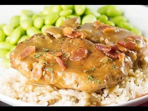 Slow Cooker Smothered Pork Chops