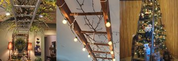 Mit alter Leitern kann man so vieles machen! Die schönsten Selbermachideen und Dekorationen mit alten Leitern!