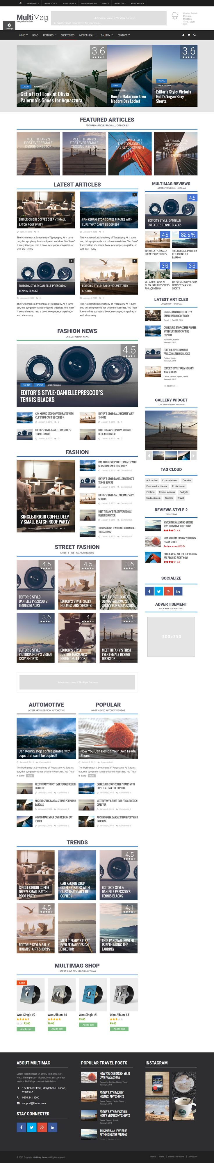 MultiMag - Multipurpose Magazine Wordpress Theme #wptheme #wordpress #magazinetheme Live Preview and Download: http://themeforest.net/item/multimag-multipurpose-magazine-theme/10057920?ref=ksioks