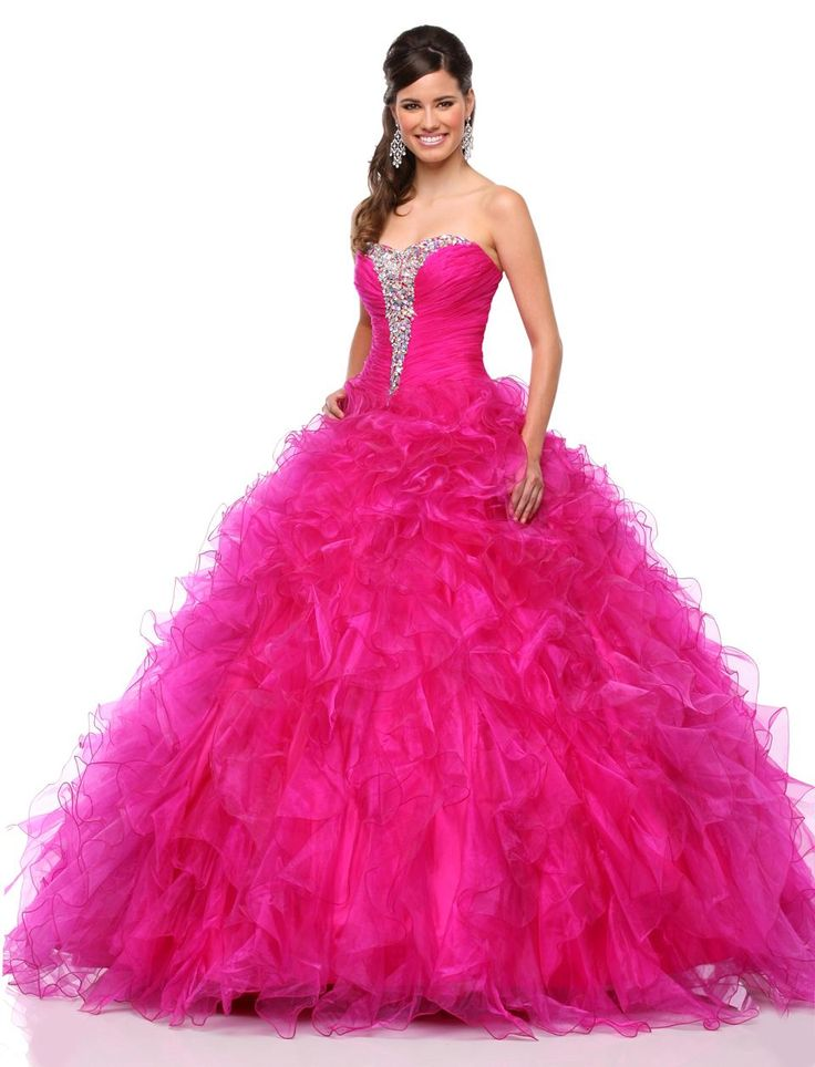 2015 Quinceanera Dresses With Sweetheart Neck Crystals Sequined Organza Cascading Ruffles Sweet 15 Dresses With Sweep Train Ball Gowns Online Cheap Blue Dresses From Liuliu8899, $176.24| Dhgate.Com