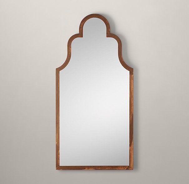 "Dutch Baroque Leaner Mirror - Rust 39""W x 79""H"