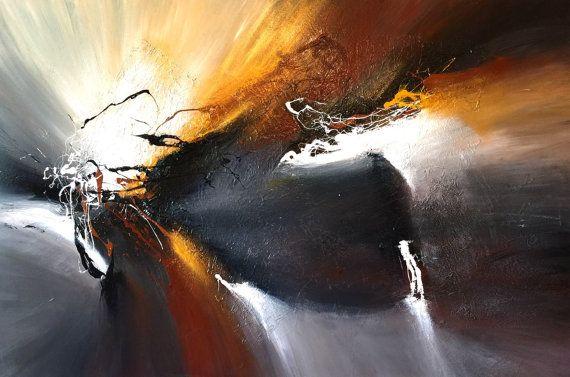 Sehr große abstrakte Gemälde von Dan Bunea: Rise again von danbunea