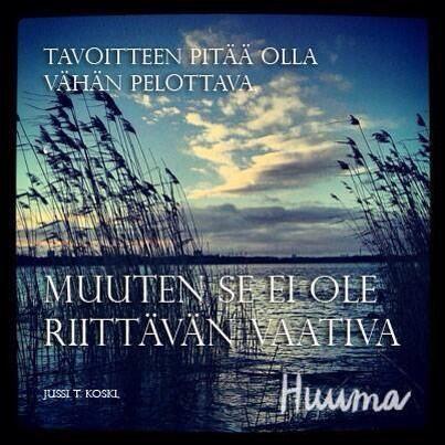 Inspiroivia sanoja. http://mesenaatti.me/ihmistenlehti-huuma/