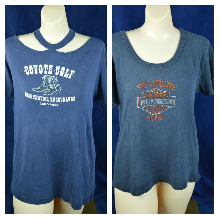 #Harley #Davidson #Coyote #Ugly #Lotof2 #Ladies #2XL-3XL #T-shirts #Black #Blue #Custom #HarleyDavidson #GraphicTee