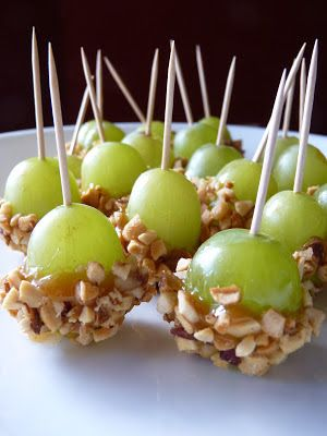 Original Pinner Said: These were a big hit at our party. So yummy and super easy to make.ME: maybe try it out when those huge green grapes are in the market: