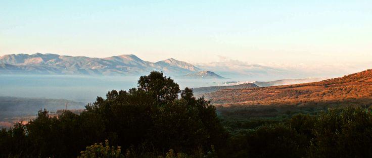 Beautiful dawn at Emparos village in Crete