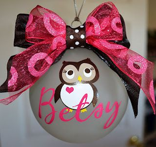 Adorable Owl Ornament-making for Kat in black and white