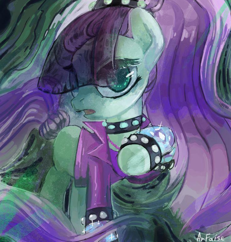 #1033279 - artist:arfaise, bracelet, clothes, coloratura, countess coloratura, rarabetes, safe, solo, spiked bracelets, spoiler:s05e24, the mane attraction, veil, wristband - Derpibooru - My Little Pony: Friendship is Magic Imageboard