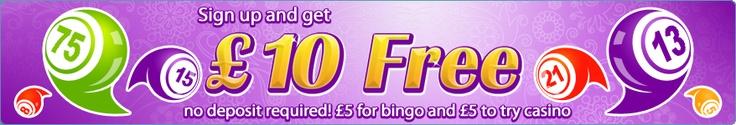 Get 10 free (5 casino bonus + 5 bingo bonus BBz) to try Giggle Bingo!