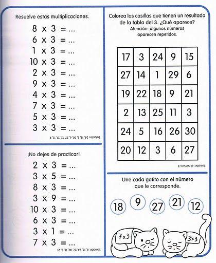 ejercicios de las tablas de multiplicar